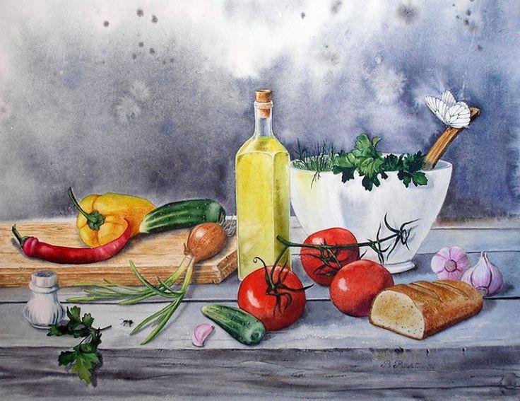Постер натюрморт на кухню