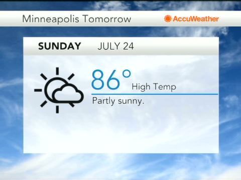 Jul 23, 2016; 6:30 PM ET Five-day Weather Forecast for Minneapolis, MN
