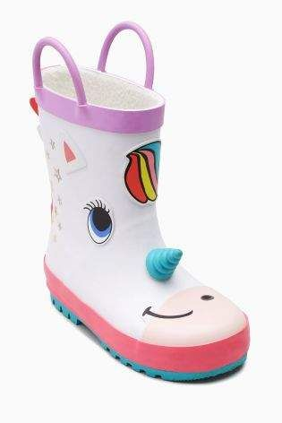Girls Next White Unicorn Wellies (Younger Girls) - White | Wellington Boots | Unicorn Love | Kids Boots | Kids Clothes | #unicornlove #kidsclothes #ad