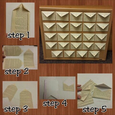 Diy envelopes out of old book pages super easy. I did this for an anniversary present 24 reasons why I love you.
