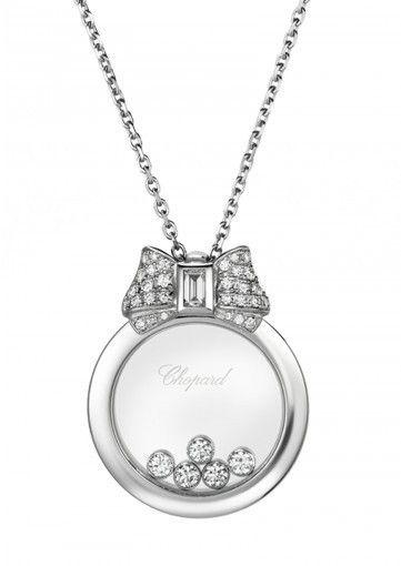 Pendente Happy Daimonds Icons Chopard - Modello originale con fiocco di diamanti sulla parte superiore, dalla collezione di gioielli 2015