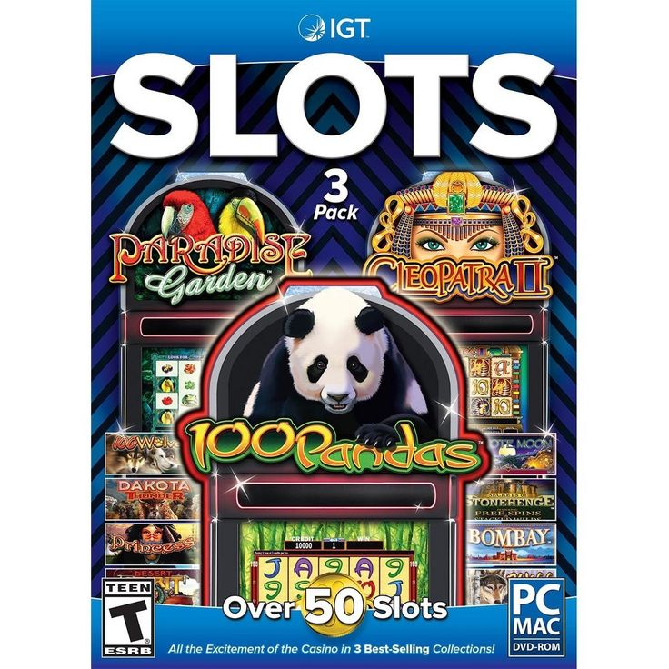 Igt Slots 3 Pack: 100 Pandas, Cleopatra and Paradise Garden - PC Games