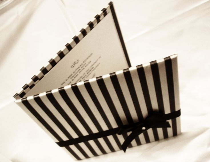 Captivating Black Bow Hardcover Invitation I Like This For A Homemade Cookbook!