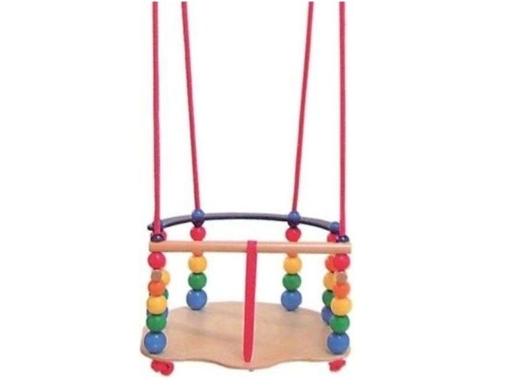 29,90EUR  Babyschaukel und Kleinkindschaukel von Hess Holzspielzeug, Gitterschaukel de Luxe