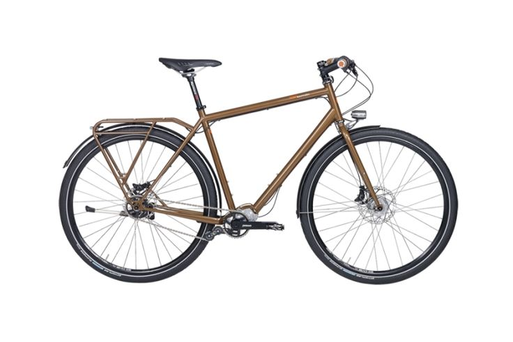 The Tout Terrain Tanami Xplore touring bicycle with Pinion gear system. Cycle Traveller