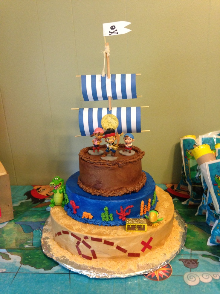 Jake and the Neverland Pirates cake  Parkers 1st birthday ...
