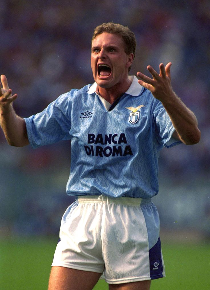 Gascoigne when he was a Lazio player