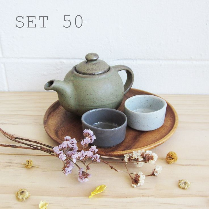 Set50-Handmade Potteries Tea Sets Selected by Tan- www.tanbagshop.com