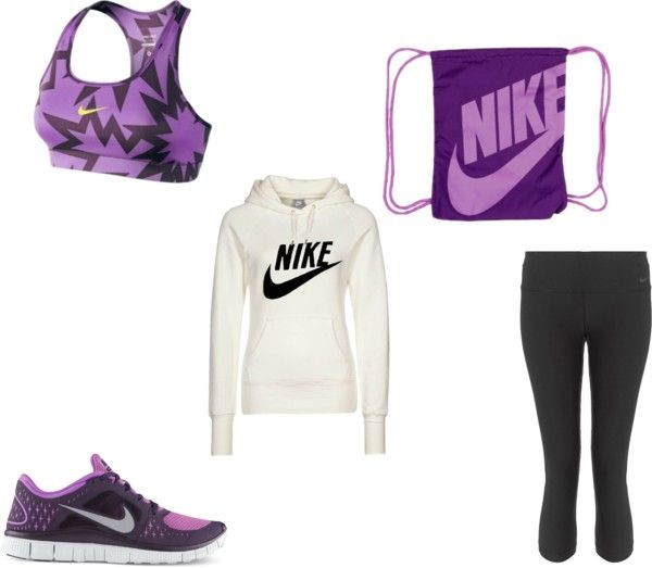 """""""Active Day- Nike Athletic Outfit"""" by marlowe13 ❤ liked on Polyvore"""