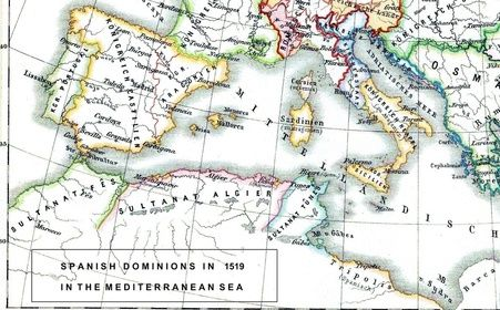 Orán estaba entre los dominios españoles en el norte de África en 1519.