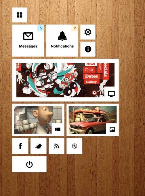 windowds style dashboard