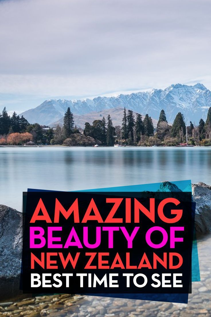 Best Time Of Year To Go To New Zealand. I love New Zealand so much! It's an insanely beautiful place. But what is the best time to go and visit it? This is a list of my favorite places to see depending on the time of year. Some awesome photos! Please repin :) #newzealand #summer #winter #travel