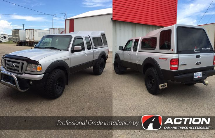 Ford Ranger with Leveling kit, new wheels and tires, Firestone air bags and finished it off with Line-x all the way around!