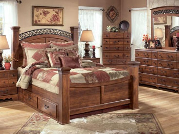 signature design by ashley timberline queen sleigh bedroom set