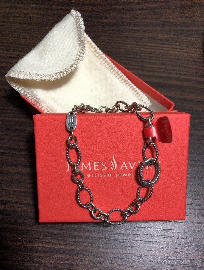 9add7af25 NEW James Avery Oval Twist Changeable Charm Bracelet Sz L | It's all ...