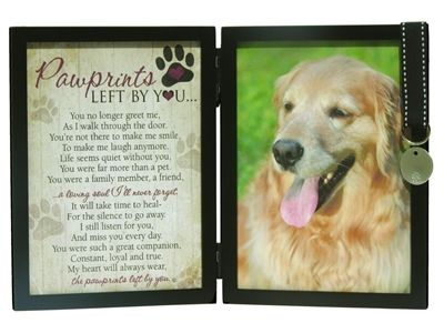 Pawprints Pet Loss Memorial Frame: Pawprints Left by You