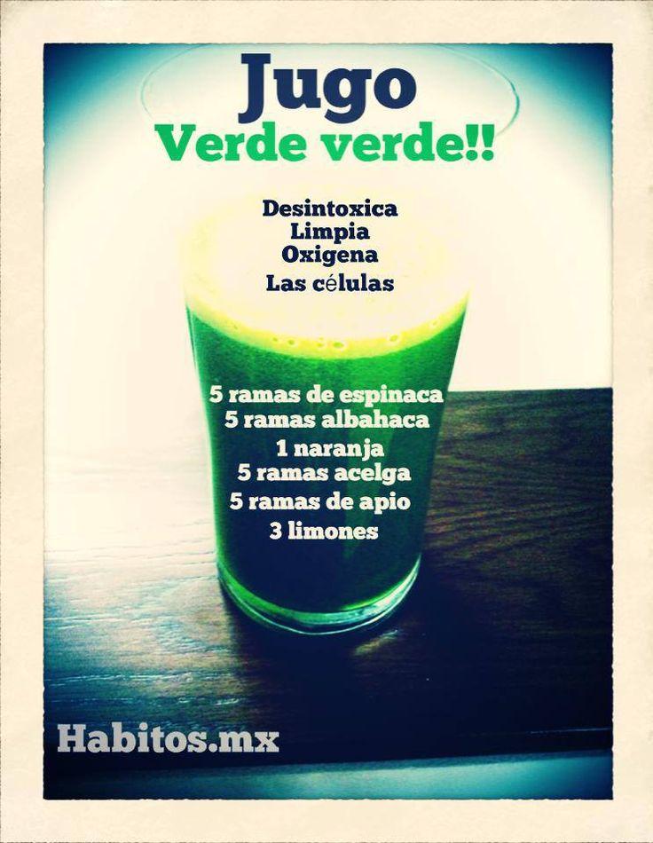 Jugo verde para desintoxicar! :)