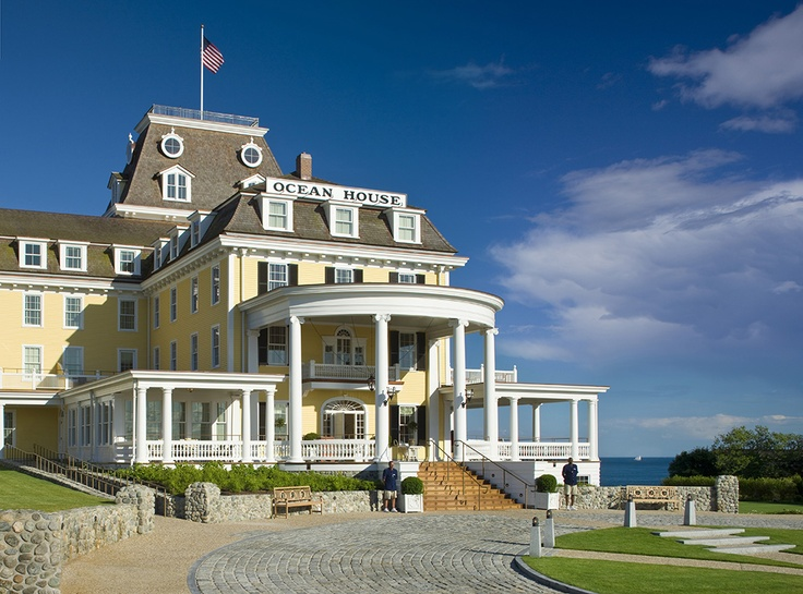 Relais & Chateaux - Perched high up on the bluffs of Watch Hill, Ocean House is one of the last remaining oceanfront hotels in New England. This grand Victorian hotel was meticulously restored and its inviting porches and terraces overlook sweeping grounds leading down to a sun-drenched private beach. Ocean House - USA  #relaischateaux #america