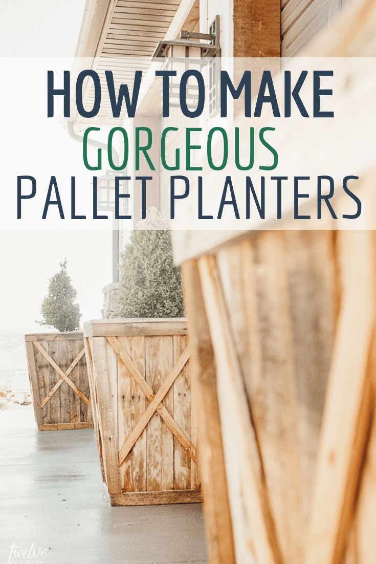 How I Turned A Pallet into Planter Boxes