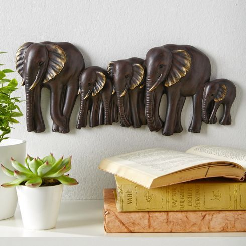 Fresh Wanddeko aus Kunstharz in Braun die Tierwelt Afrikas f r Ihre Wand