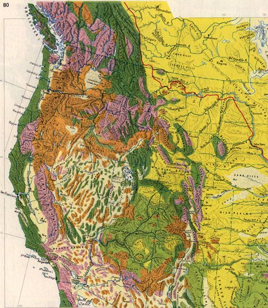 Physiographic Map Of Western North America