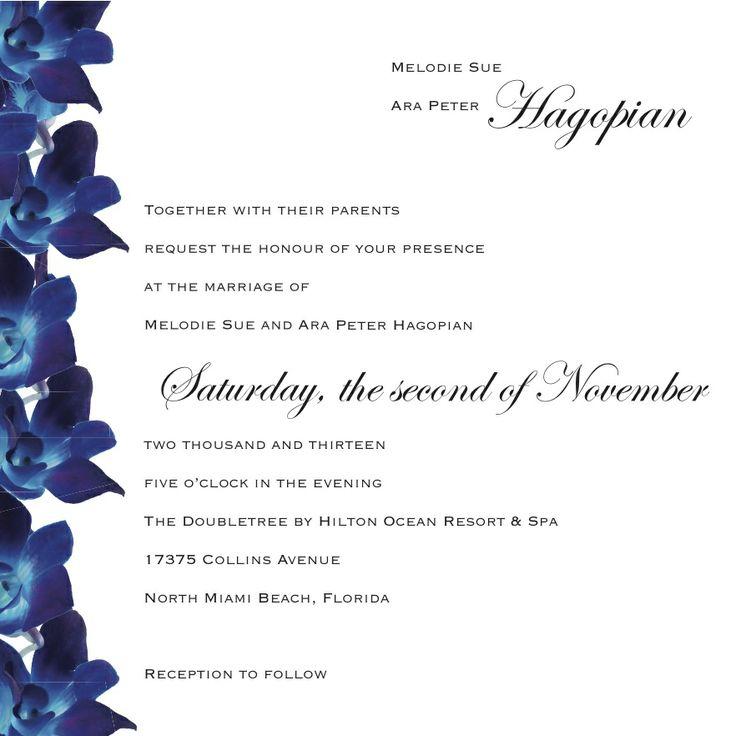 13 best invitations images on pinterest blue orchids