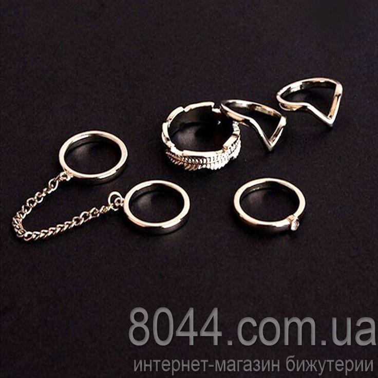 Кольца на фаланги пальцев набор Anelli серебристые