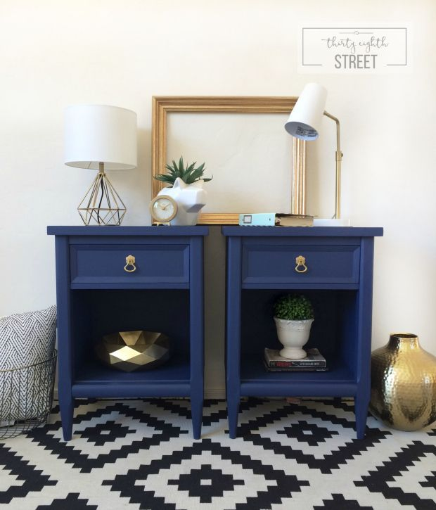 Bright & Cheery Modern Nightstands {guest post}