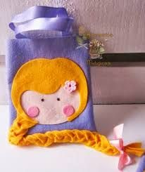 Resultado de imagem para sacola personalizada rapunzel