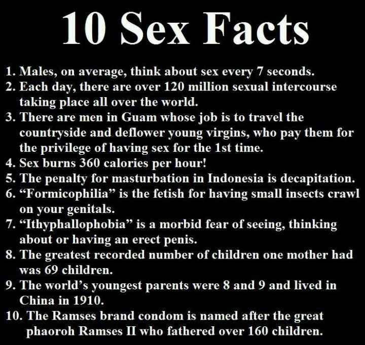 Five ridiculous sex facts everyone believes 4