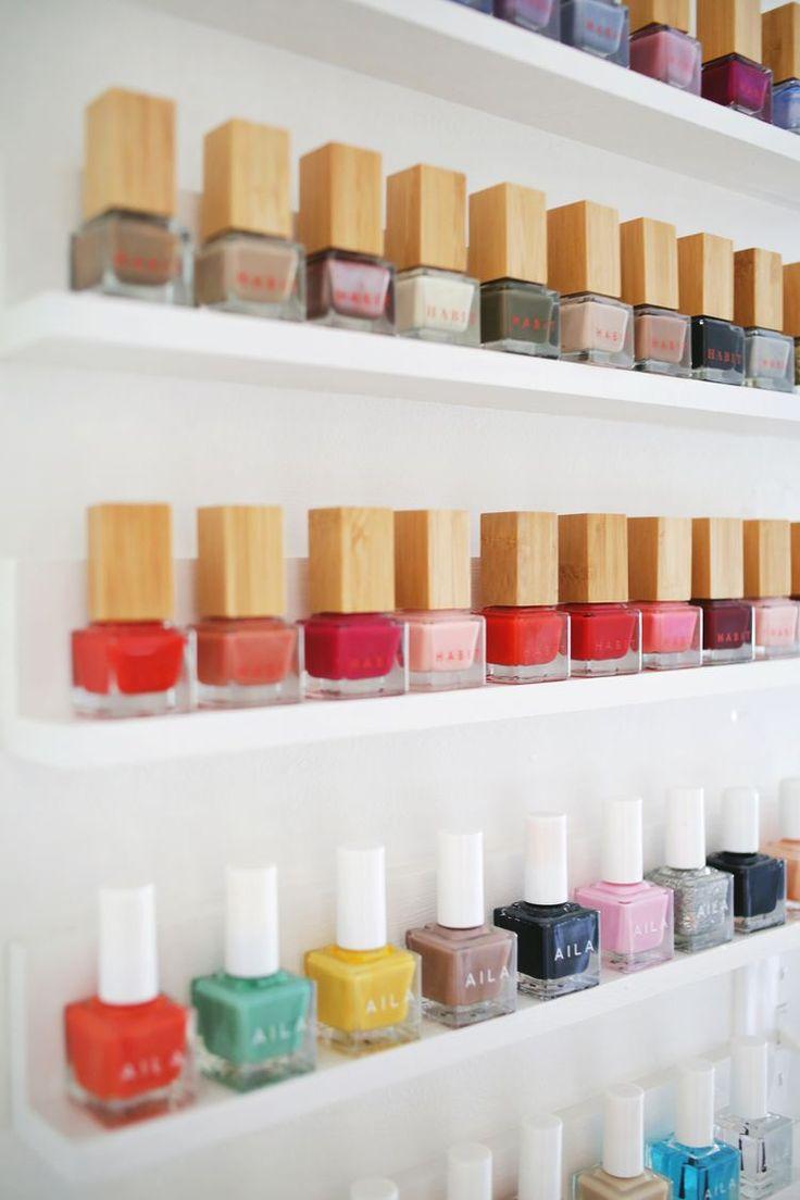 17 best ideas about nail polish shelves on pinterest. Black Bedroom Furniture Sets. Home Design Ideas