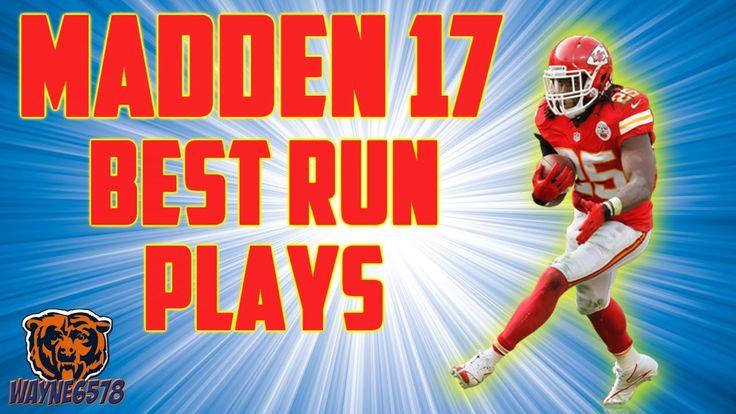 MADDEN 17 BEST RUNNING PLAYS | RUNNING TIPS MADDEN 17 | OMG HB COUNTER I...