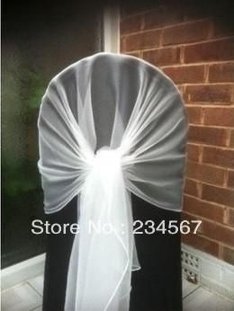 White Chair Cover Hood/Wrap Tie Back Sash Bow From China Chair Covers, Sashes, Bows Seller Okme | Dhgate.Com