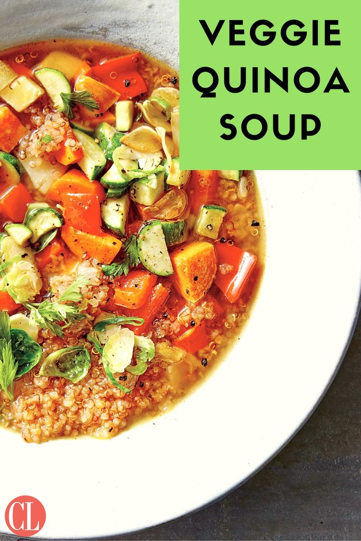 Toasting the quinoa imparts a nutty flavor and great texture to the final soup. Pack in the veggies, and nutrients, in this comforting recipe. | Cooking Light