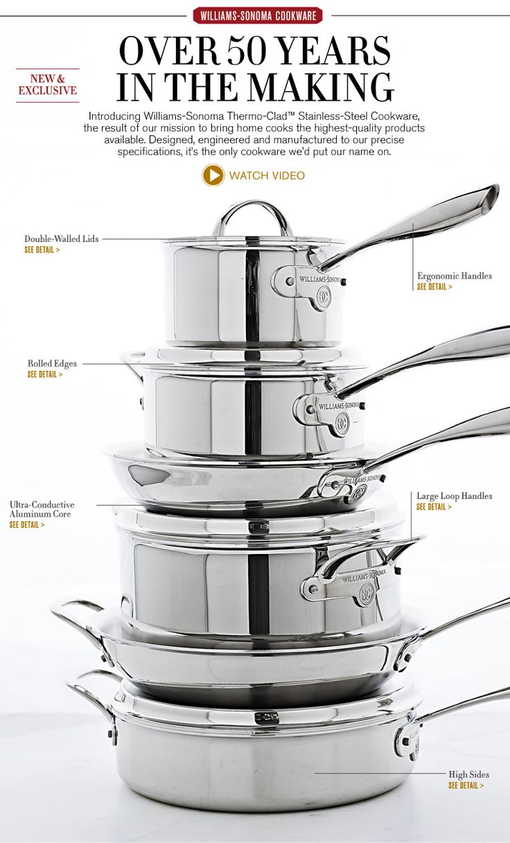 Best Stainless Steel Cookware & Pots And Pan Sets | Williams-Sonoma #WSJHoliday