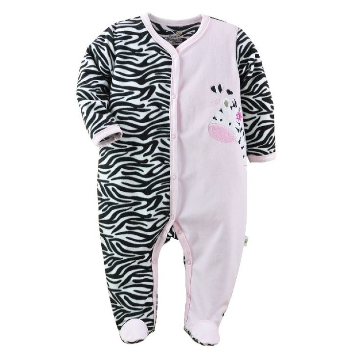 >> Click to Buy << 2017 Pink Zebra Baby Rompers Fleece Warmer Babe Romper with Feet Girls Jumpsuits newborn overalls baby girl clothes Soft #Affiliate