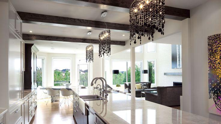 #Kitchen, #granite, white