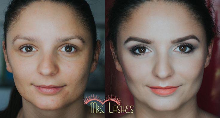 Kasia w trakcie szkolenia makijażowego