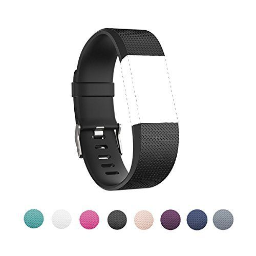 Sunface-Fitbit-Charge-2-BandSoft-Silicone-Adjustable-Replacement-Sport-Strap-Wristband-for-Fitbit-Charge-2-Heart-Rate-Fitness-Wristband-Wrist-Length-570-826-145mm-210mm