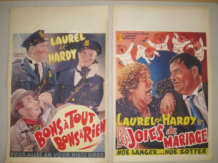 Laurel and Hardy Belgian Movie Posters