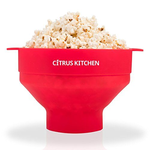 CitrusKitchen Microwave Popcorn Popper Popcorn Maker Red 75 inch diameter by 5 inches in height Red * Click image for more details. (This is an affiliate link) #PartyFoodMachine
