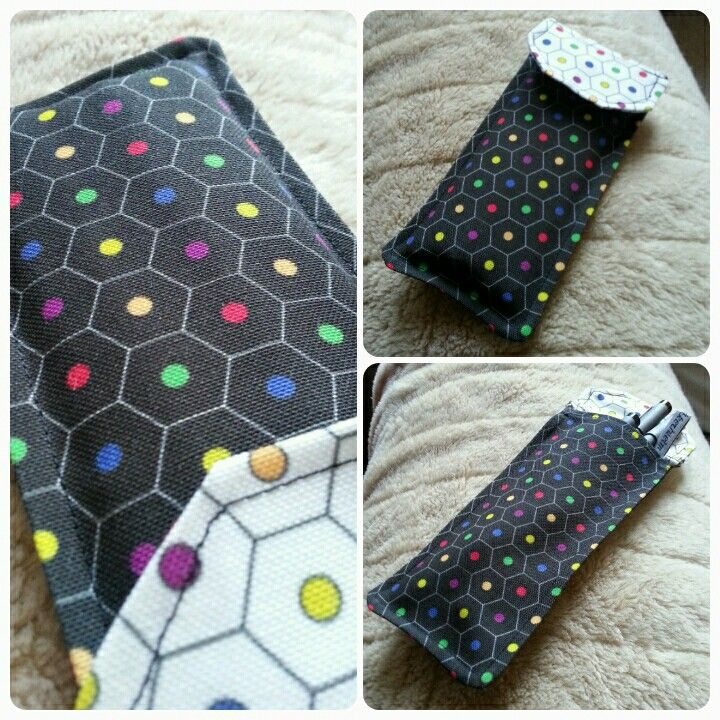 "Pencase made of fabric from the ""Pencil"" collection. #spoonflowered"