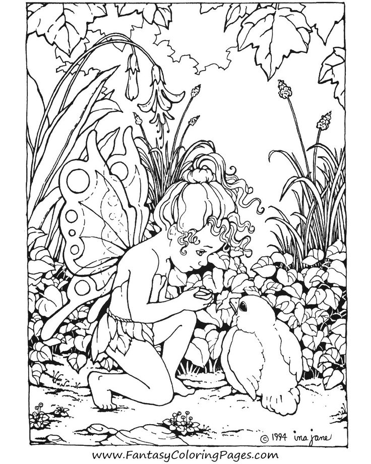 free printable fairy coloring pages for kids - Fantasy Coloring Books For Adults