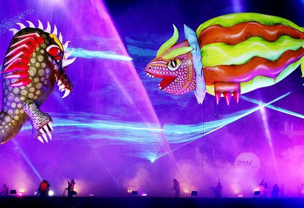 Colorful dragons from around the world meet in Poland