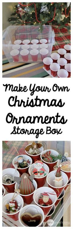 Christmas Ornament Storage Box | One Good Thing by Jillee | #ornaments #storage #holidaycleanup