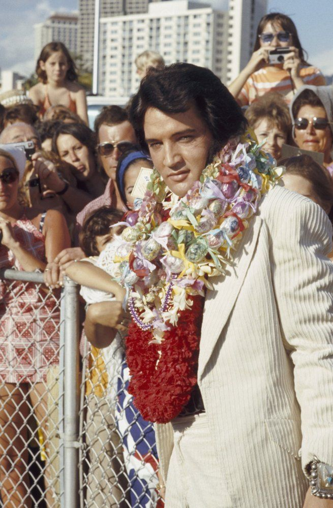1973  ELVIS: ALOHA FROM HAWAII -- 1973 -- Pictured: Elvis Presley arrives in Hawaii for his televised concert -- Photo by: Gary Null/NBCU Photo Bank