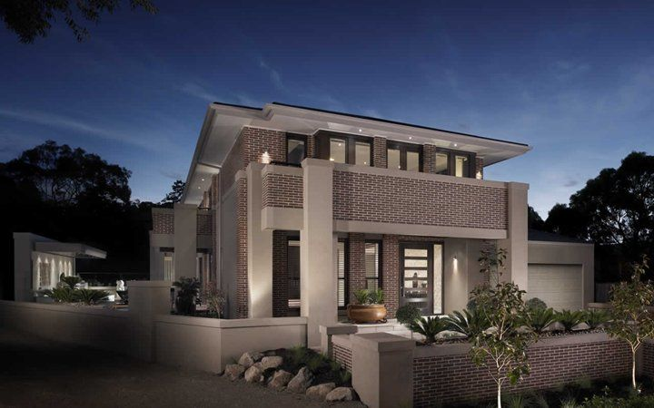 Imperial oakpark facade 1 new home designs metricon i for New home facade design