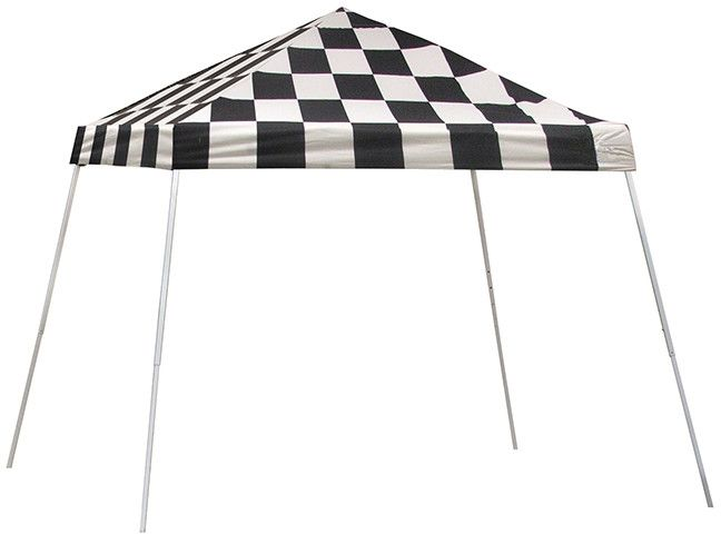 shelter logic 10 x 10 checkered flag pop up canopy tent sports series