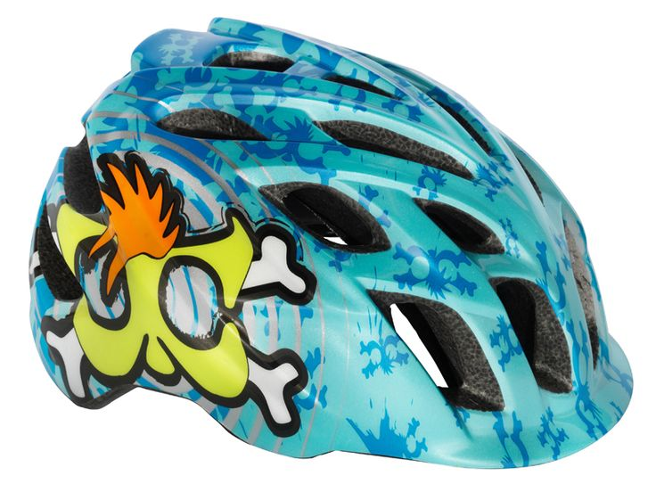 Kali Protectives CHAKRA Child Helmet Spiral Blue/Green #kaliprotectives #kalipro #kali #helmet #chakrachild #chakra #protectivegear #bike #bicycles #mowhawks #crossbone #blue #green #spiral #childhelmet