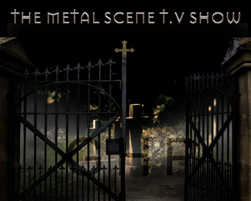 """The first TV backdrop I made for a US cable network show, """"The Metal Scene T.V. Show"""" - spooky, right? ;)  This one took several hours to complete. Quite happy with the final product and it looked great on screen behind the presenters!"""